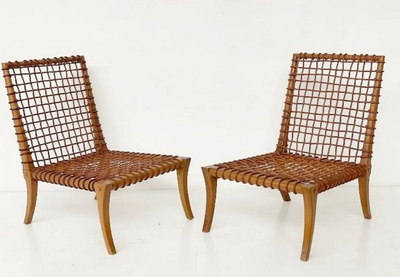 Pair Of Chairs By T.H. Robsjohn-Gibbings Klismos for Saridis, 1960s