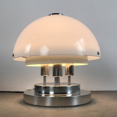 Space Age Table / Floor lamp by Doria Leuchten, Germany 1970s