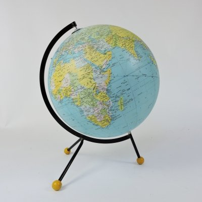 Tripod Stand Globe by Cartes Taride, 1986