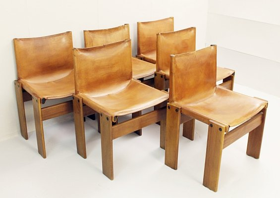 Set of Six 'Monk' Chairs by Afra & Tobia Scarpa, 1974