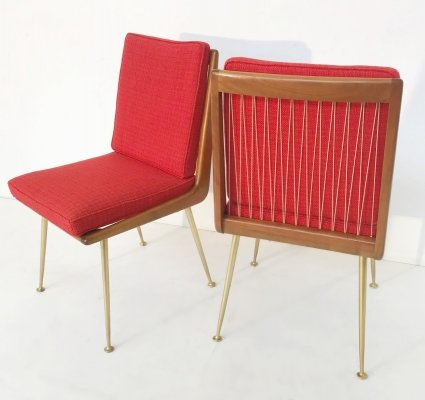 Pair of Boomerang Chairs by Hans Mitzlaff for Eugen Schmidt Soloform, 1953