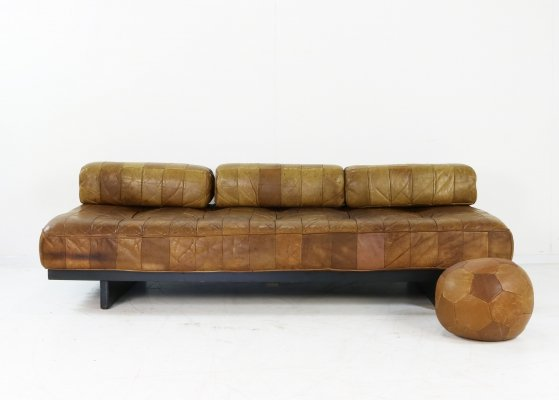 Brown leather patchwork DS80 Sofa / Daybed by De Sede
