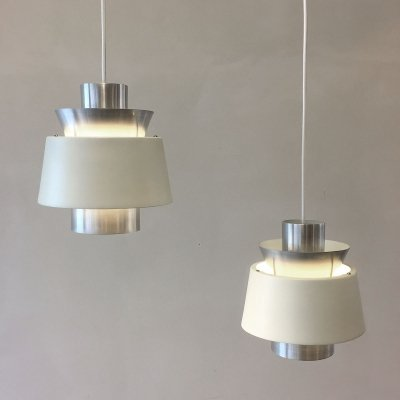 Pair of Tivoli hanging lamps by Jorn Utzon for Nordisk Solar, 1960s