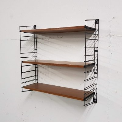 Teak & metal Tomado book shelves, The Netherlands 1960's