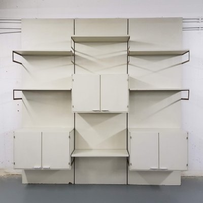 White wooden Pastoe wall unit, The Netherlands 1970's