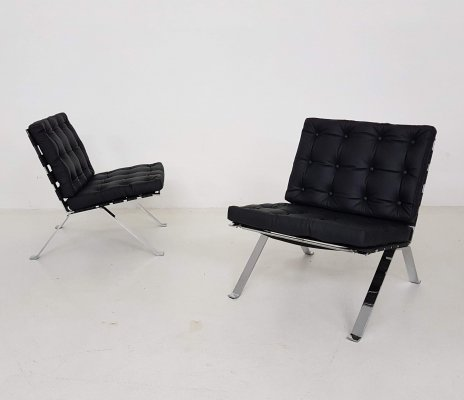 Pair of 'Euro 1600' lounge chairs by Hans Eichenberger for Girsberger
