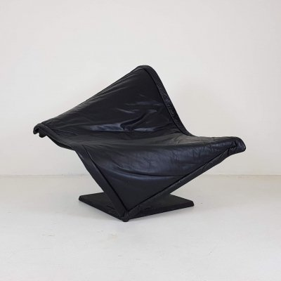 'Flying Carpet' Leather Lounge Chair by Simon Desanta for Rosenthal, Germany
