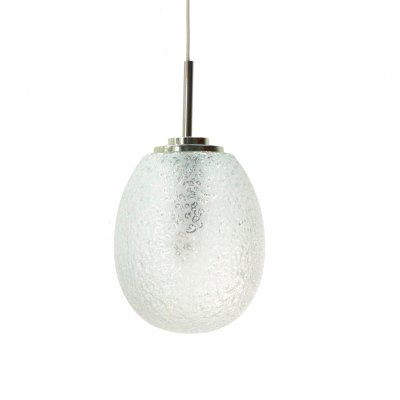 Frosted Glass Drop Light by Doria Leuchten, 1960s
