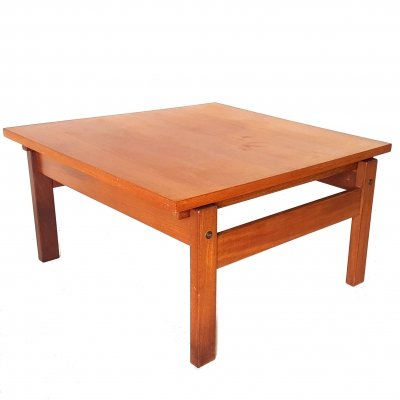Minimalist teak coffee table, Netherlands 1960s