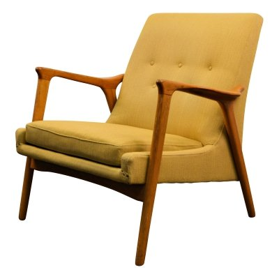 Vintage Swedish design Bröderna Anderssen oak lounge chair