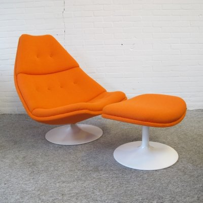 F511 lounge Chair & ottoman by Geoffrey Harcourt for Artifort, 1960s
