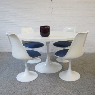 Vintage Pastoe Dining set with Tulip table & chairs, 1970s