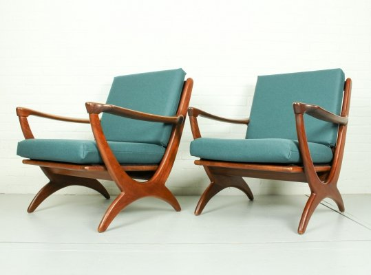 Set of Mid Century Armchairs for De Ster Gelderland, 1950s