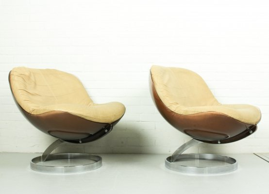 Set of 2 Space Age 'Sphere' Armchairs by Boris Tabacoff for MMM, 1971