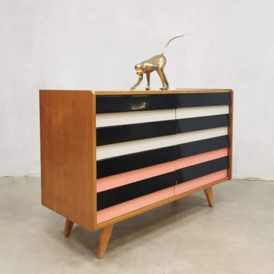Vintage Czech design chest of drawers model U-450 by Jiří Jiroutek for Interier Praha