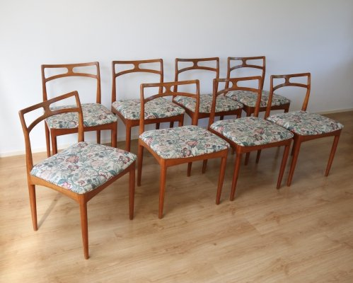 Set of 8 Model 94 dining chairs by Johannes Andersen for Christian Linneberg, 1960s