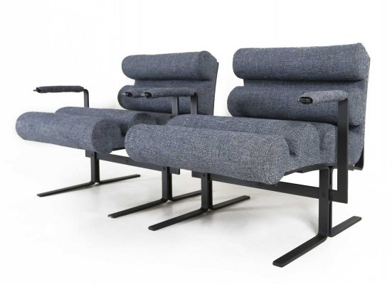 2 x Roll arm chair by Joe Colombo for Sormani, 1960s