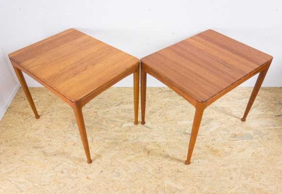 Pair of solid teak side tables by Engstrom & Myrstrand