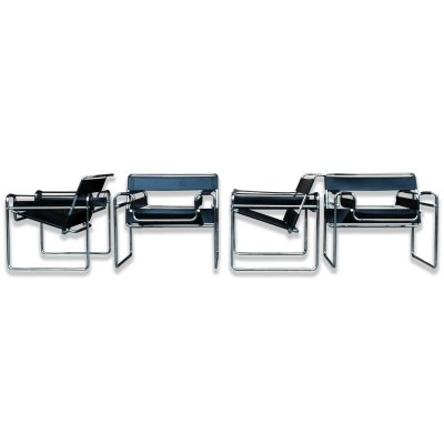 4 x Wassily lounge chair by Marcel Breuer for Gavina, 1970s