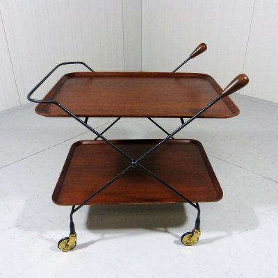 Rare Serving Trolley by Paul Nagel for JIE Gantofta, Sweden