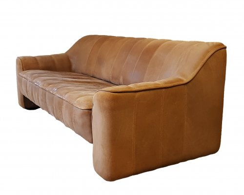Leather 3 seater sofa by De Sede Switzerland, 1970s