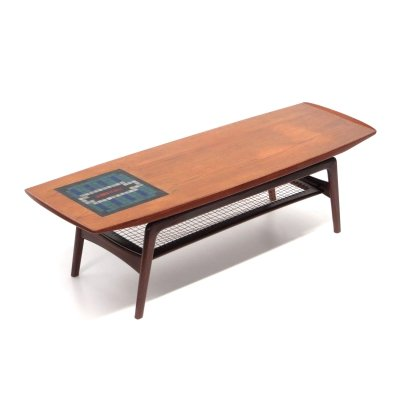 Vintage coffee table by Louis van Teeffelen for Wébé, 1960s
