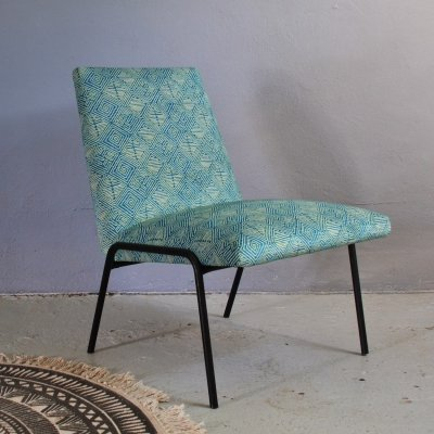 Pierre Guariche vintage metal lounge chair