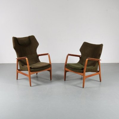 Pair of Dutch lounge chairs by Aksel Bender Madsen for Bovenkamp, 1950s