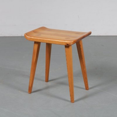 Pine stool by Goran Malmvall for Karl Andersson & Son, Denmark 1950s