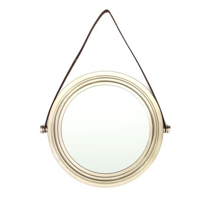 Midcentury Brushed nickel-plated brass italian wall mirror, 1960s