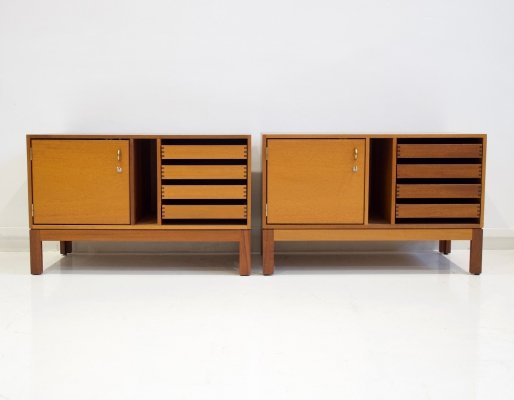 Pair of Mahogany File Cabinets by Christian Hvidt, 1970s