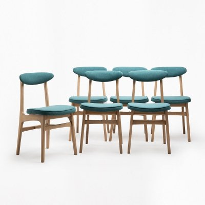 Set of 6 type 200-190 chairs by R. T. Hałas, 1960s