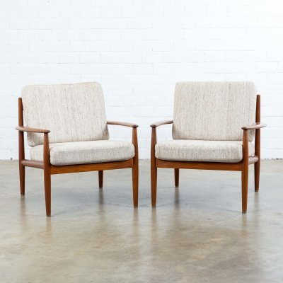 Pair of lounge chairs by Grete Jalk for France & Son, 1960s