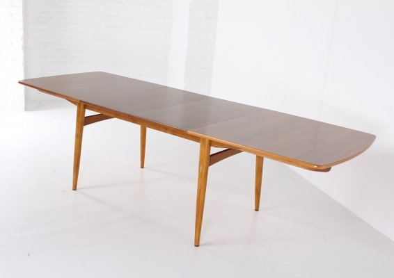 Expendable dining table by William Watting for Fristho