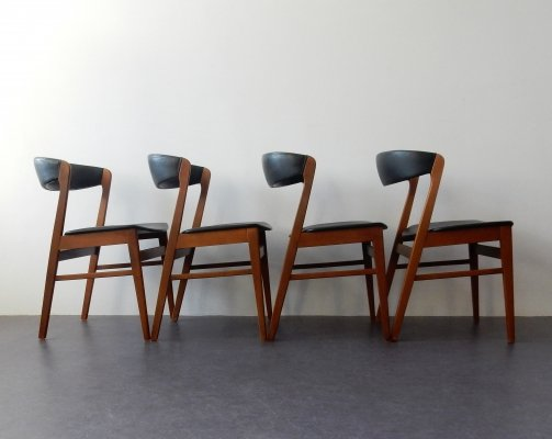 Set of 4 dining chairs, Denmark 1960's / 1970's