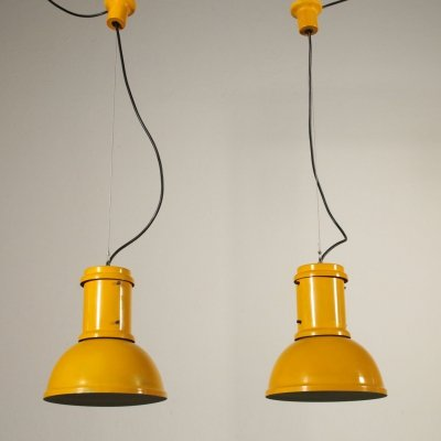 Pair of Vintage Pendant Lamps by Candle, 1960s