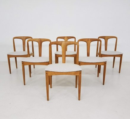 Set of 6 oak dining chairs by Joahnnes Andersen for Uldum Mobelfrabrik, 1960's