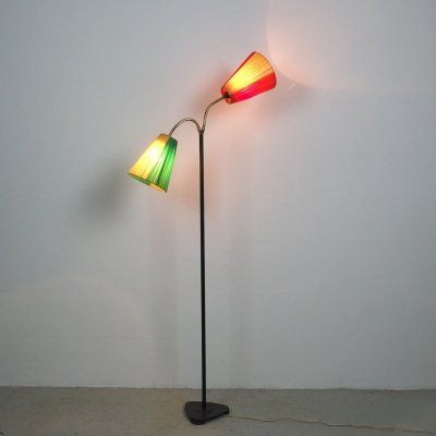 Vintage Tivoli floor lamp with 2 flexible arms, 1950's