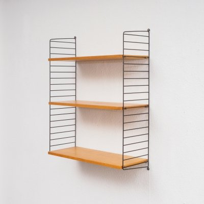 Original ashwood String wall shelf by N. Strinning, 1960s