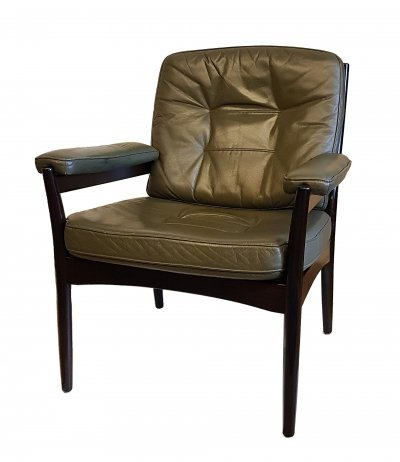 Leather Arm Chair for Göte Möbler, Sweden