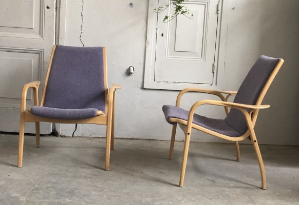 Pair of Lamino lounge chairs by Yngve Ekström for Swedese, 1950s