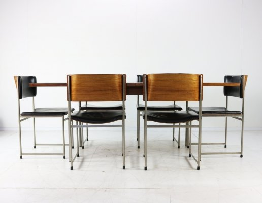 Cees Braakman for Pastoe rosewood dining set, 1960s