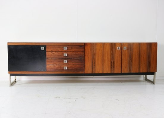 Large 'FDR-1255' rosewood sideboard by Fristho, 1965