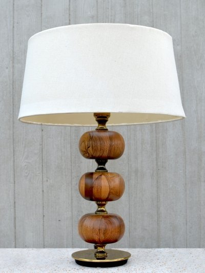 Mahogany table Lamp by Henrik Blomqvist for Tranås Stilarmatur, Sweden