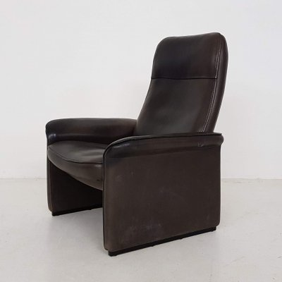 De Sede DS-50 dark brown leather lounge chair, Switzerland 1960's
