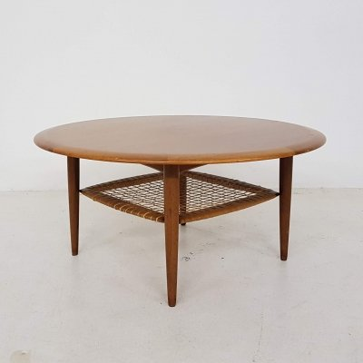 Johannes Andersen for CFC Silkeborg teak coffee table, Denmark 1960's