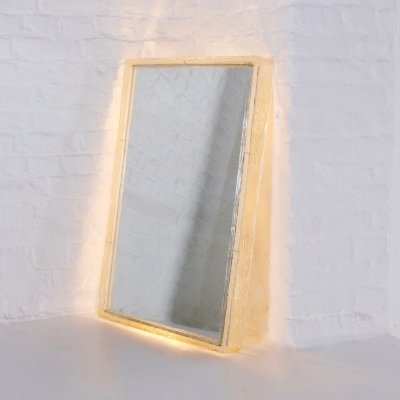 Illuminated plexiglass rectangular mirror