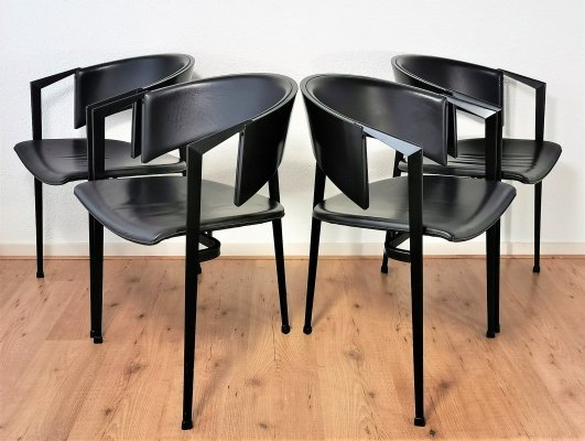 Postmodern Dutch Dining Chairs by Castelijn, 1980's