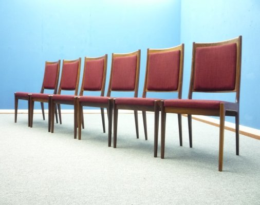 Set of 6 Rosewood Dining Chairs by Karl Erik Ekselius for JOC Vetlanda, 1960s
