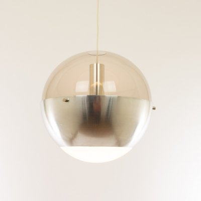 Nickel & Perspex Luna pendant by H. Fillekes for Artiforte, 1950s